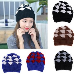 d7203d1d6e8 Discount winter fleece hats women wholesale - 2017 Arrival Beanies Knitted  Hat Men s Winter Hats For