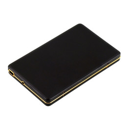 Wholesale Golden Frame Diamond nd inch SATA IDE HDD Box USB SSD Hard Drive Disk External Storage Enclosure Box Case Mobile for Samsung PC