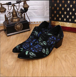 $enCountryForm.capitalKeyWord Canada - Hot Sale Cheap Price Pointed Toe British Lace Up Men Dress Shoes Flower Print Oxford Shoes For Men Party Plus Size Zapatos 2016
