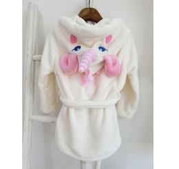 $enCountryForm.capitalKeyWord NZ - Unicorn Nightgowns for Children Cute Toddlers Unicorn Pajamas Hoodie Robes Winter Fashion Homewear Pajamas Party Favor