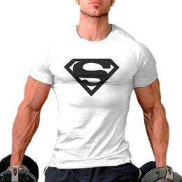 Barato T Shirts Músculos-Wholesale-Mens Gym Shirts Muscle Golds Brand Fitness Bodybuilding Treinamento Vestuário Sport Cotton Gold Gym T Shirt Men gasp plus size top