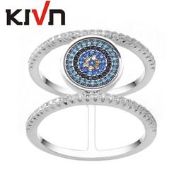 kivn fashion jewelry cz cubic zirconia turkish blue evil eye bridal wedding engagement rings for women girls birthday christmas gifts turkish wedding rings