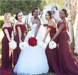 Discount African Wedding Bridesmaid Dresses South African