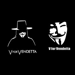 $enCountryForm.capitalKeyWord Canada - Wholesale 15CM Reflective Cool Car Sticker V for Vendetta Car Door Window Sticker Classic Film Figure Vinyl Decal Laptop Motorcycle Decal