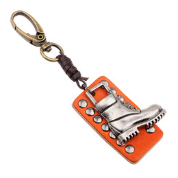 Men s Cool Punk keychain High Quality Genuine Keychains hanging buckle key  holder for party events K0021 a087225933f0