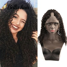 U part kinky hUman wig online shopping - Adjustable Small Open inch inch U Part Human Hair Wigs For Black Women Front Hand Tied Hair Wigs Accept Customization
