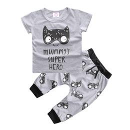 $enCountryForm.capitalKeyWord Canada - Summer Ins Baby Infant Clothing Set Kids Boys Cartoon Lion Letters Print Short Sleeve Cotton Tops Tshirt + Pants 2pcs Children Outfits 11997