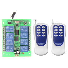 rf wireless remote control system Canada - DC 12V 24V 8 CH 8CH RF Wireless Remote Control Light Switch System + Transmitter+Receiver