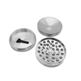 metal coolers UK - 3 Layers Metal 62 MM concave silver color Cool Grinder Beautiful Colours Herbal Smoking Herb Grinder