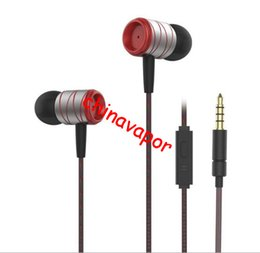 3.5mm high quality earphone Canada - 10pcs free shipping USA high quality super bass Earphone 3.5mm Metal headset In-Ear Earbuds For Cellphone MP3 MP4 Earphones With Microphone