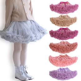 Chinese  Baby Girls Tutu Skirt Ballerina Pettiskirt Fluffy Children Girls Ballet Skirts Party Dance Princess Girl Tulle Miniskirt Kids Girl Skirts manufacturers