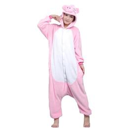 b71c2ff924c58 Lovers Pig Unisexe Adultes Flanelle À Capuche Onesies Pyjamas Cosplay Dessin  Animé Animal Vêtements De Nuit Pour Femmes Hommes