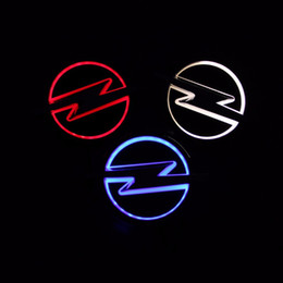 led badges for cars NZ - Car Styling 13cm*10cm white Blue Red 5D Rear Badge Bulb Emblem Logo led Light Sticker Lamp For OPEL Vectra Corsa Insignia