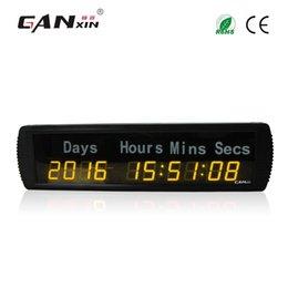 [GANXIN] Mejor venta de 1.8 '' 10 Digit Plus Led Timing Reloj digital 9999 DAY Pantalla claramente temporizador de eventos de cuenta regresiva con control remoto en venta
