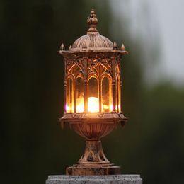 Wall Column Headlights Outdoor Balcony Pillar Lamp Post Lights Retro Europe  Chapiter Lighting WCS OCL008