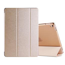 Silk PU Cuir Smart Case pour iPad mini 4 3 2 air 2 Pro 9.7 Flip Couverture Lisse Touch Silk Smart Cover