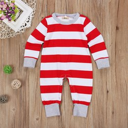 Barato Ternos Do Bebê-Baby Christmas Pijamas Unisex Terno Romper Infantil Macombo Longo Algodão Onesies Jumpsuit Jumpsuit Jumper Kid Boutique Vestuário Legging Warmer Global