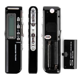 Wav Audio Music Canada - Professional Mini Digital Voice Recorder Pen Audio Recorder with 8GB Built-in Memory LCD Display MP3 Music Player