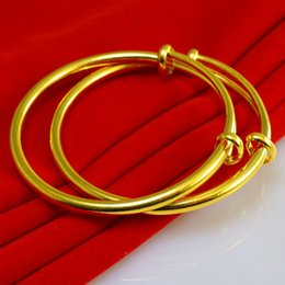 Vietnam White NZ - For a long time does not fade gold bracelet female gold jewelry wedding jewelry simulation smooth gold bracelet Vietnam export contraction