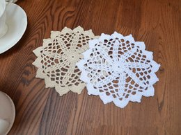 $enCountryForm.capitalKeyWord Australia - 12 pcs in ~ Vintage style hand crocheted doilies, round doilies for DIY, handmade coaster, chic pattern doilies for dream catchers 14cm