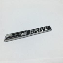 Chrome Auto Emblem Decal Canada - 2Pcs Auto Accessories Metal 3D S DRIVE SDRIVE Emblem Chrome Badge Side Logo Car Stickers Decal
