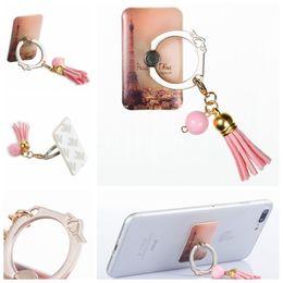 Discount skull mobile phone - 360 Degree Finger Ring Flower Heart Love Mobile Phone Stand Holder For iPhone X 8 7 6S Note 8 S8 Tablet Skull Owl Eiffel