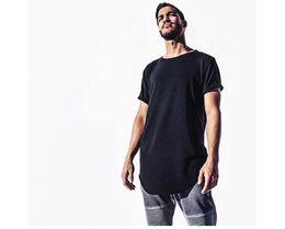 Woman s sWag clothing online shopping - Fashion men extended t shirt longline hip hop tee shirts women justin bieber swag clothes harajuku rock tshirt homme