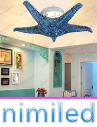 Discount starfish lighting - nimi721 Mediterranean Specialties Wall Creative Sea Starfish Light Romantic Bedroom Living Room Entrance Hallway Ceiling