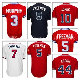 584b97fe4 Men s 3 Dale Murphy 5 Freddie Freeman 7 Dansby Swanson Baseball Jersey 44  Hank Aaron 10 Chipper Jones Retro Jerseys Embroidery ...