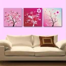 $enCountryForm.capitalKeyWord Canada - unframed 3 Pieces art picture free shipping Home decoration Canvas Prints Cartoon abstract art tree butterfly rose White flowers leaf