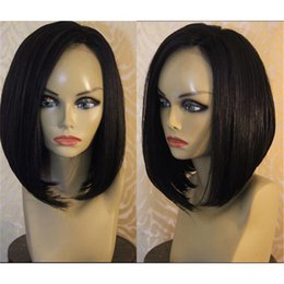 african american full wigs Canada - New fashion bob full lace wigs lace front wig glueless virgin Human Hair Wigs for black women african american with baby hair