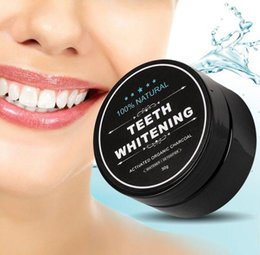 wholesale dental teeth whitening Canada - Natural Teeth Whitening Powder Smoke Coffee Tea Stain Remover Oral Hygiene Dental Care Bamboo Activated Charcoal Free shipping