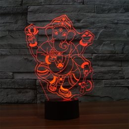$enCountryForm.capitalKeyWord Canada - Ganesh LED RGB Touch Table Lamp For Christmas Atmosphere 3D Night Light Lampara Touch Lamp With USB Line