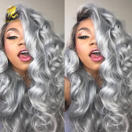$enCountryForm.capitalKeyWord Canada - 8A Grade Hair Wig Brazilian Glueless Full Lace Wigs #1b Grey Ombre Body Wave Human Hair Lace Front Wigs Black Women