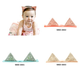 med hair 2018 - 2018 Direct Selling Real Mix Color Zl Lace Korean Style Cute Ears Head Band Baby Girls Headdress Soft Knot Hair Accessor