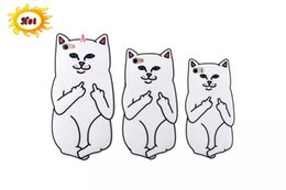 3d Fingers Case Canada - 3D Ripndipp Pocket Cat Cartoon Soft Silicone GEL Case For IPhone X 8 I8 7 Plus 6S SE 5S 4 4G 4S Ipod Touch 5 6 Middle Finger Capa Skin Cover