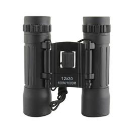 Telescope Wide UK - Professional 12X30 Powerful Binoculars Zoom Mini Handheld Telescope Long Range 96 1000m Binocular Wide Vision Hunting