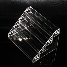 E Juice Bottle Rack NZ - Acrylic e cigs display showcase ecig stand show shelf holder rack for 30ml e liquid eliquid e juice needle bottle dhl free