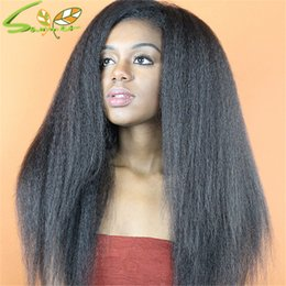 $enCountryForm.capitalKeyWord Canada - Virgin Brazilian Human Hair Yaki Straight Lace Front Wigs With Full Bangs Unprocessed Remy Human Hair Full Lace Wig Grade 7A