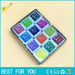 Scrapbooking ink padS online shopping - Various colorful Cartoon Homemade DIY Scrapbooking Vintage Crafts Monochrome Ink Pad Inkpad Rubber Stamp Decoration