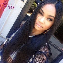 Brown Straight Wig Part Australia - Long Straight Wig Glueless Full Lace Human Hair Wigs Middle Free Side Part Glueless Full Lace Wigs Lace Front Wig
