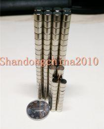 Neodymium Magnet Disc N35 Australia - Wholesale - In Stock 200pcs Strong Round NdFeB Magnets Dia 4x4mm N35 Rare Earth Neodymium Permanent Craft DIY Magnet Free shipping