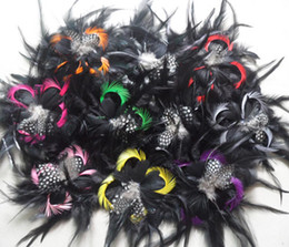 hair feather supplies UK - Wholesale 10 PCS Beautiful fashion Feather Hair Flower free shipping select Festival and party supplies > > celebration party supplies