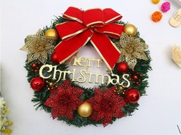 online shopping 2017 New Style Christmas Decorations Christmas Crafts Wreaths Window Layout Family Reunion Hotel Varieties Of Flowers