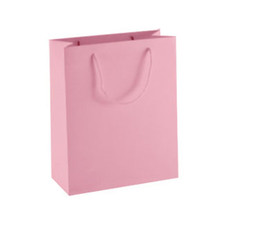 Vertical pink color 6 sizes stock and customized ivory board paper gift bag  paper bag shopping bag ELB158 b2174e717d