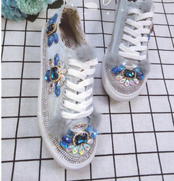 thigh high boots diamond 2019 - Winter Top Quality Luxury fashion brand sexy Flash Noble Palace noble crystal sequins Stereo diamond flowers dragonfly w