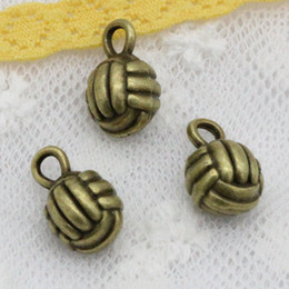 $enCountryForm.capitalKeyWord Canada - Wholesale 40pcs Charms Tibetan Silver Antique Bronze plated 3d volleyball 10mm Pendant for Jewelry DIY Hand Made Fitting
