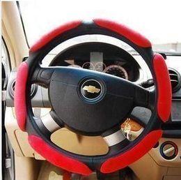 $enCountryForm.capitalKeyWord Canada - The car stereo 3D sets suede sport steering wheel cover slip suede sandwich