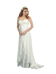 $enCountryForm.capitalKeyWord UK - 2016 Sexy Chiffon Beach Wedding Dresses Cheap A line Empire Lace Wedding Dress Backless Garden Wedding Dress Plus size
