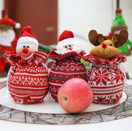 snowman decorations 2019 - 44*28cm Christmas Eve Apple Bags Christmas Apple Bags Snowman Doll Candy Bag Xmas Gift Decoration DH12 cheap snowman dec